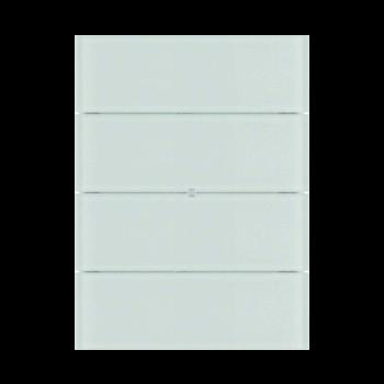 کلید هوشمند برکر BIQ چهار پل شیشه ای